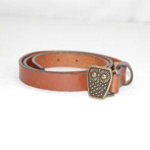 🆕 Owl Leather Belt
